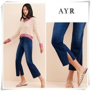 AYR Onliest Zion High Rise Skinny Split Crop Jeans
